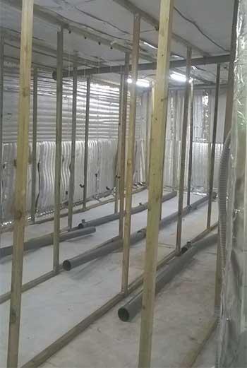 утепление грибного помещения изолоном