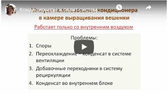 видео про кондиционеры для вешенки